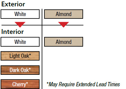 Replacement Windows Color Options