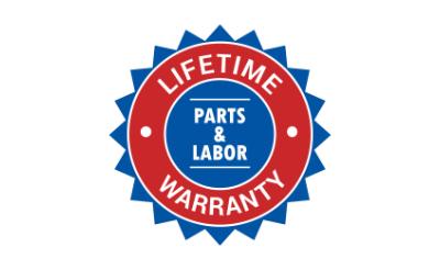Lifetime Parts & Labor Warranty